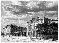 Castle compiègne, vintage engraving. Stock Illustration