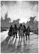 It was a wonder, vintage engraving. Stock Illustration