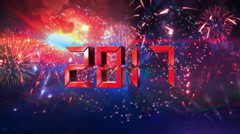 Countdown 10 to 1 finals 2017 happy new year RED Stock Footage