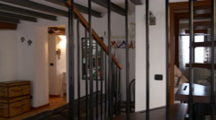 Cozy modern como lake city apartment 4k italy Stock Footage