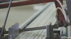 Automated machine for cutting steel structures Stock Footage
