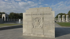 Entrance to World War II Memorial, Washington, DC. Stock Footage