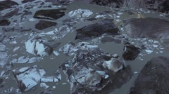 Meade Glacier Alaska Ice Bergs Stock Footage