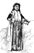Woman Montenegro, vintage engraving. Stock Illustration