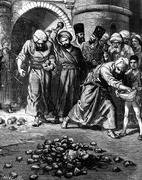The kingdom of Khiva. The woman was buried alive. vintage engraving. Stock Illustration