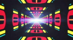 Abstract futuristic tunnel with space for text or logo. High Tech Tunnel loop Stock Footage