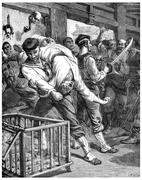 A visit to prisons in Shanghai, I threw myself and pulls alongside my brave s Stock Illustration
