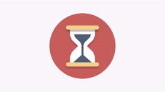 8K - Hourglass icon symbol round logo Stock Footage