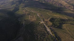 Beautiful Aerial Drone shot of a vineyard Stock Footage