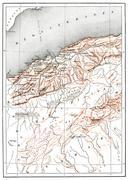 Map of Oran Province, vintage engraving. Stock Illustration
