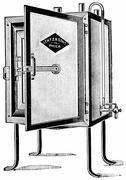 Small incubator sufficiently large for individual work, vintage engraving. Stock Illustration