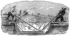 Rabot regularizer the bottom of the trenches, vintage engraving. Stock Illustration