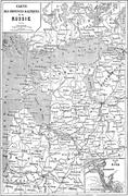 Map of Baltic Province to Russia, vintage engraving. Stock Illustration