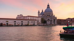 Venice santa maria della salute basilica canal cathedral 4k time lapse italy Stock Footage