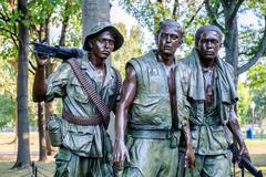 The Three Soldiers statue commemorating the Vietnam War in Washington D.C. Stock Photos
