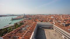 Day campanile santa maria della salute basilica  4k time lapse venice italy Stock Footage
