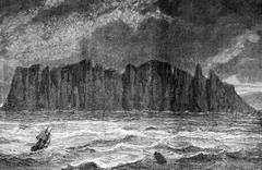 North Cape, vintage engraving. Stock Illustration