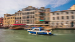Day venice grand canal ferry road trip ride panorama 4k time lapse italy Stock Footage