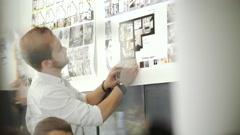 Design Studio Architect Creative Occupation Meeting Blueprint Concept 20s 4k Stock Footage
