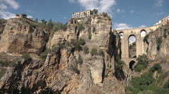 Stunning village of Ronda Stock Footage