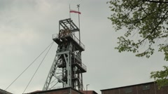 Working shaft of coal mine Stock Footage