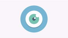 8K - Eye icon symbol round logo Stock Footage