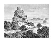 Cingolo, an Ovimbundu Kingdom in Angola, Southern Africa, vintage engraving Stock Illustration
