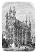 Leuven Town Hall, vintage engraving Stock Illustration