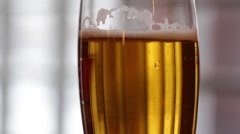 Glass of beer in dull colors Stock Footage