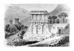 Dadiani Mansion, vintage engraving Stock Illustration