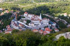 View on national museum palace sintra Stock Photos
