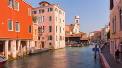 Day venice traffic canal panorama 4k time lapse italy Stock Footage