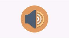 8K - Volume icon symbol round logo Stock Footage