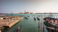 Day palazzo ducale bay church of san giorgio maggiore view 4k time lapse italy Stock Footage