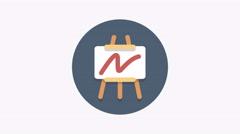 8K - Business expansion icon symbol round logo Arkistovideo