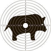 Target shooting wild boar Stock Illustration
