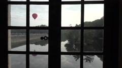 Balloon ride through the Loire Valley Stock Footage