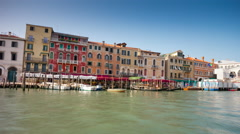 Venice day grand canal bridge side panorama 4k time lapse italy Stock Footage