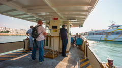 Venice day ferry passengers road trip panorama 4k time lapse italy Stock Footage