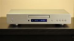 Cd player playing a disc Stock Footage