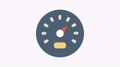 8K - Speed indicator icon symbol round logo Stock Footage