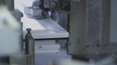 Production of plastic windows and doors. Details of a window Stock Footage