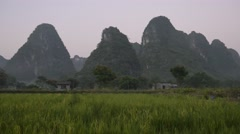 Countryside in Guizhou Province, China. Stock Footage