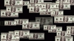 4k Float 100 dollars money wealth background. Stock Footage