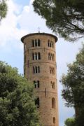 Bell Tower of Saint Apollinare in Classe near the city of Ravenna in Central Stock Photos