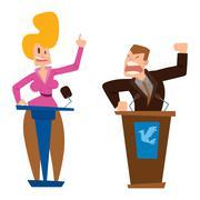 Politicians people vector set Stock Illustration