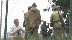 Military World War II camp Stock Footage
