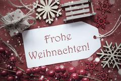 Nostalgic Decoration, Label With Frohe Weihnachten Means Merry Christmas Kuvituskuvat