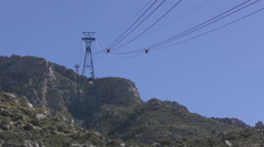 Lift over the Sandia mountains Stock Footage