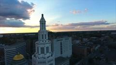 Buffalo New York Electric Tower Stock Footage